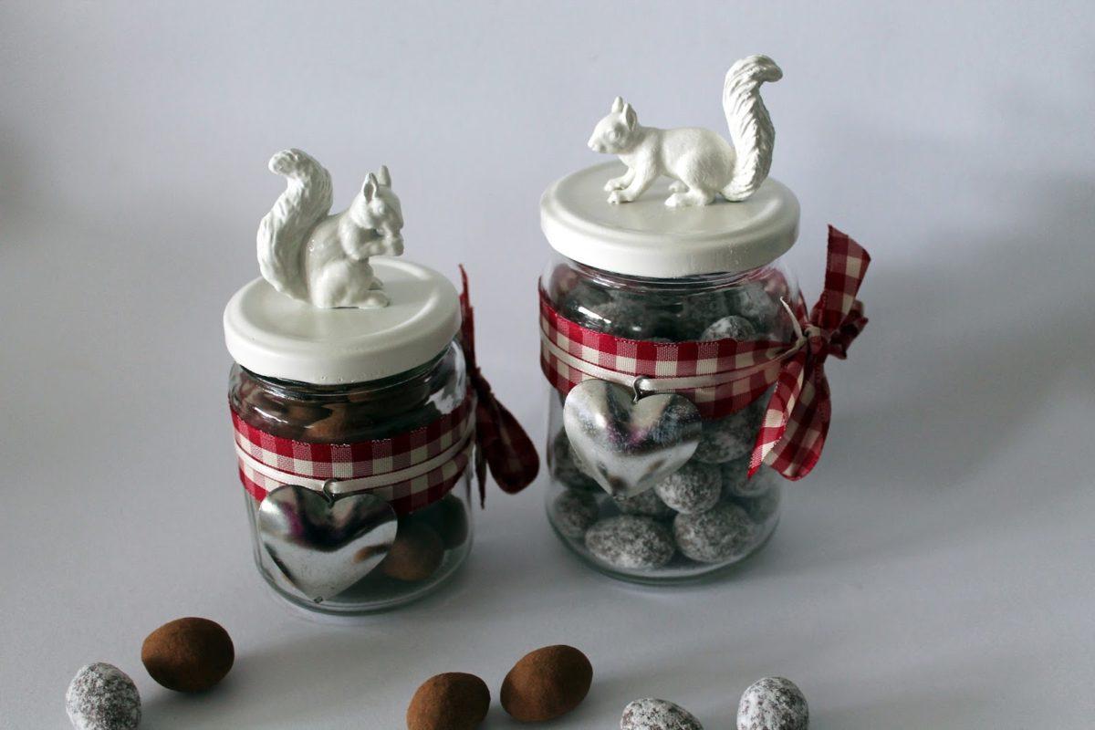 DIY Herbstglas mit Eichhörnchen schnell und einfach selbermachen - Herbstdeko