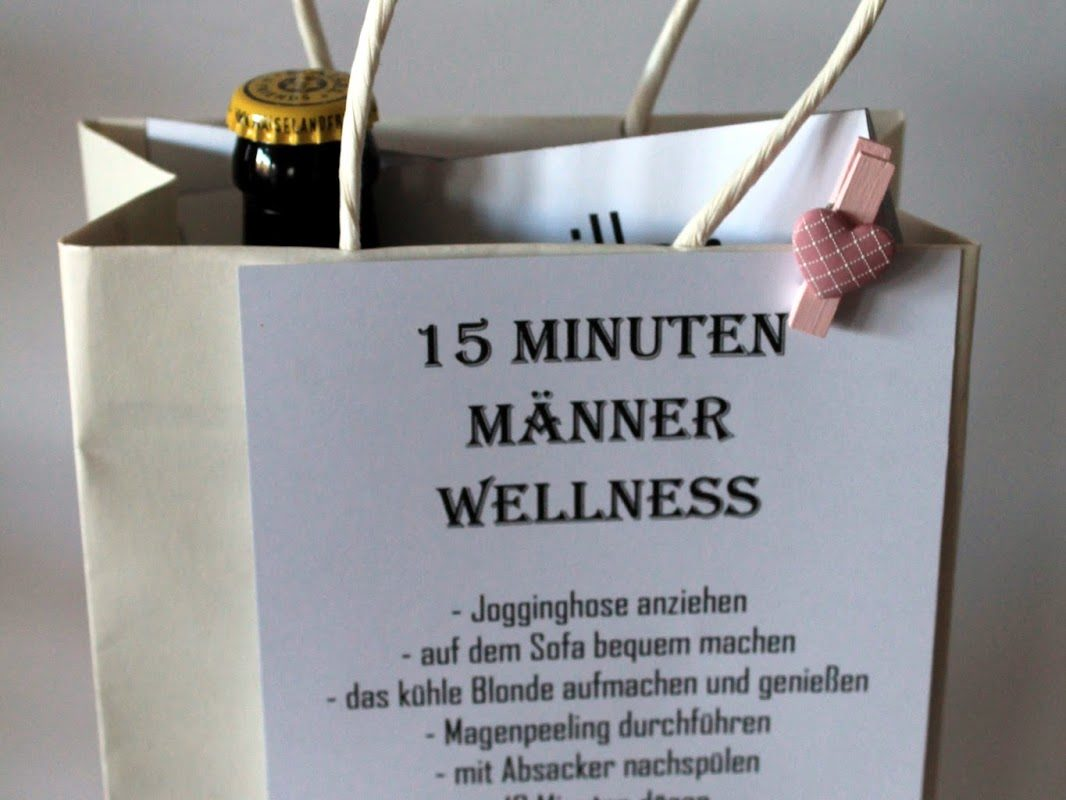 DIY 15 Minuten Männer Wellness - die perfekte Geschenkidee für Männer einfach selber machen