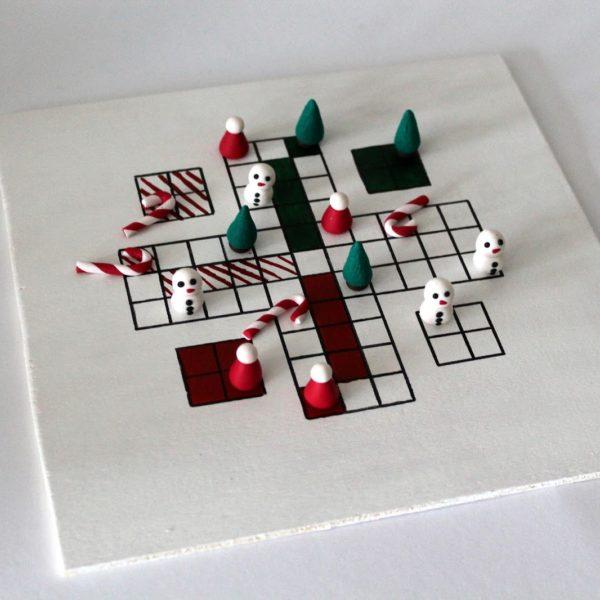 DIY Santa ärgere Dich nicht mit Fimo / Polymer Clay Figuren einfach selber machen