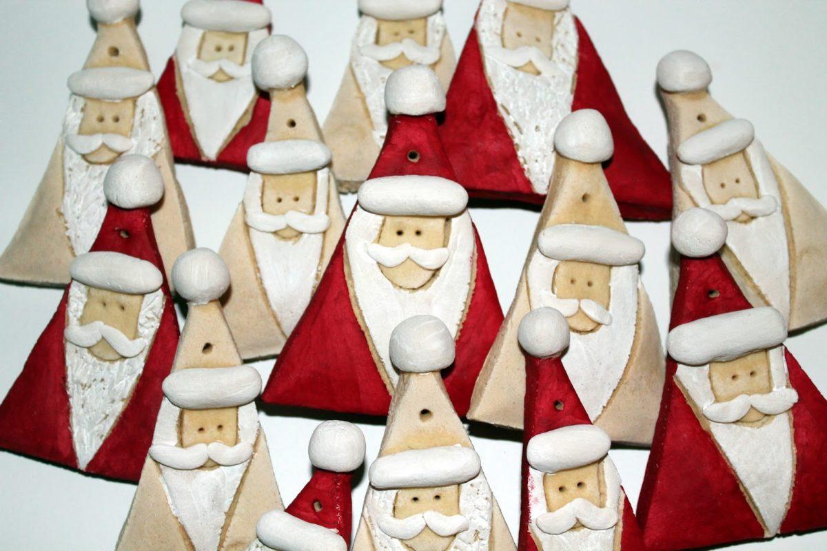 DIY Salzteig Weihnachtsmänner einfach selber machen