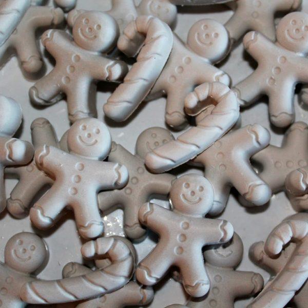 DIY Gips / Beton Lebkuchenmänner und Zuckerstangen Streudeko einfach selber machen
