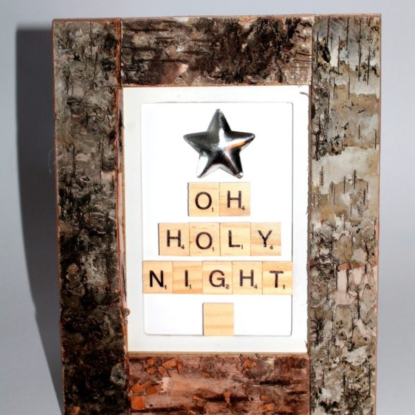 DIY Bild Oh Holy Night aus Scrabble Buchstaben einfach selber machen