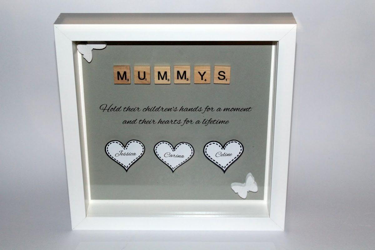 DIY Mummys Bilderrahmen mit Scrabble Buchstaben