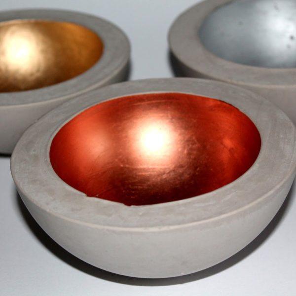 DIY Gips / Beton Schale in Kupfer, Silber und Gold ganz einfach selber machen!