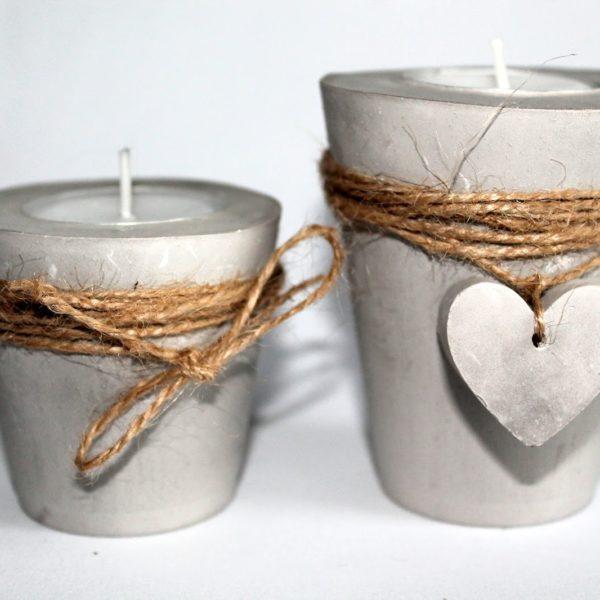 DIY Gips / Beton Teelichthalter mit einem Herz ganz einfach selber machen!