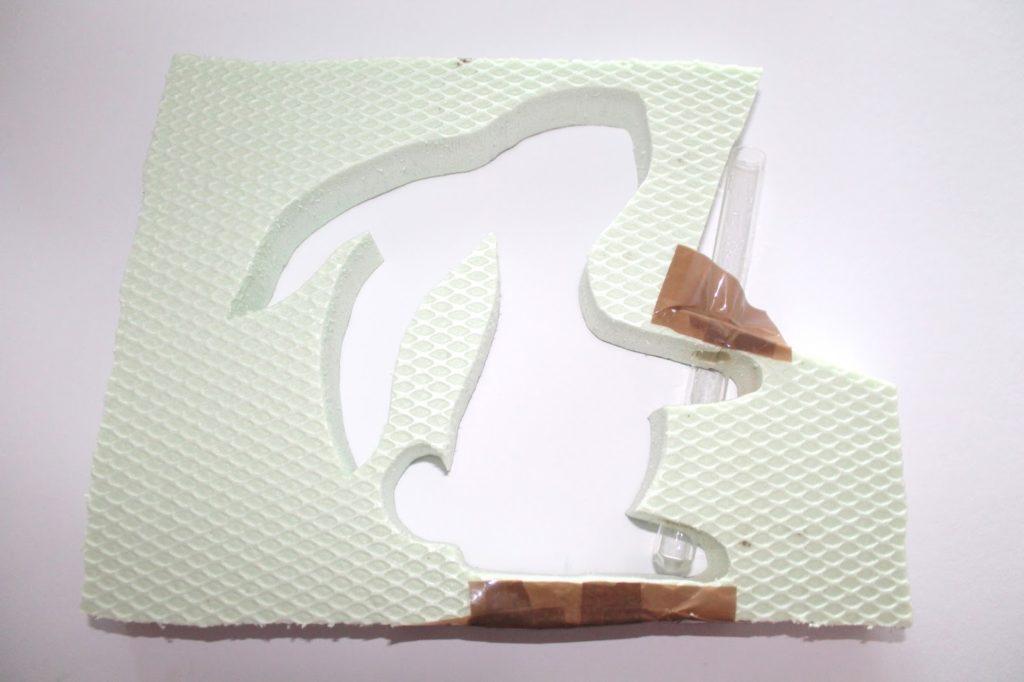 DIY, Basteln: Gips / Beton Hasenvase als Osterdekoration - DIYCarinchen