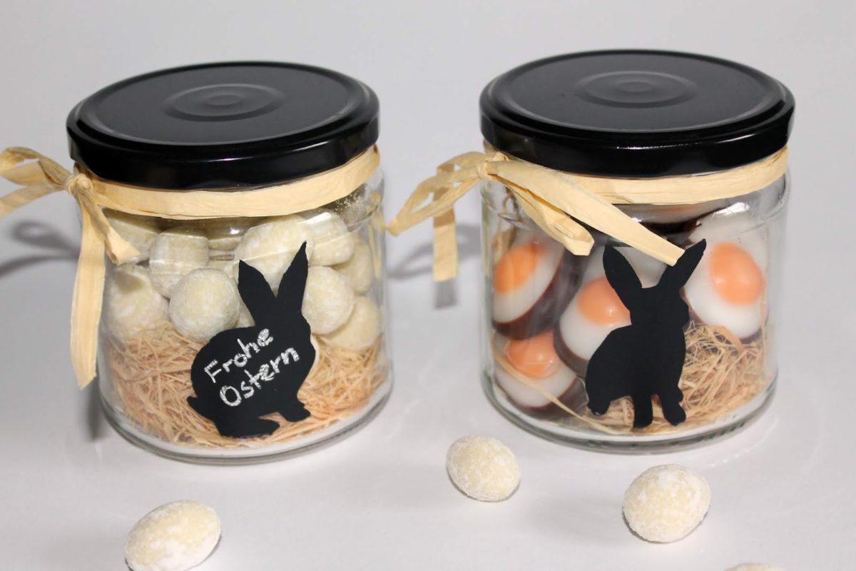 DIY Vorratsgläser mit Tafellackhasen Recycling / Upcycling ganz einfach selbermachen - perfekte Geschenkidee zu Ostern