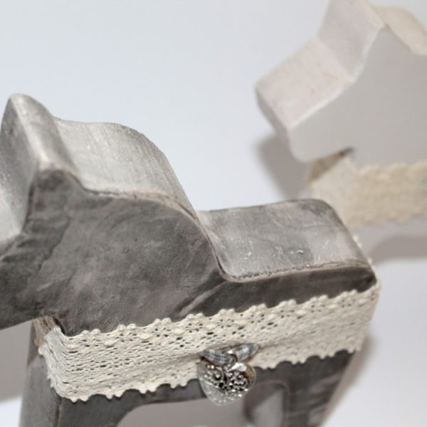 DIY Beton / Gips Dalapferde einfach mit gemachter Form selber machen