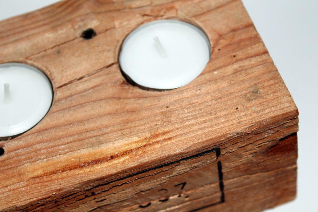 DIY, Basteln: Pallettenteelicht / Europalette aus Holz als Geschenkidee und Wohndekoration - DIYCarinchen