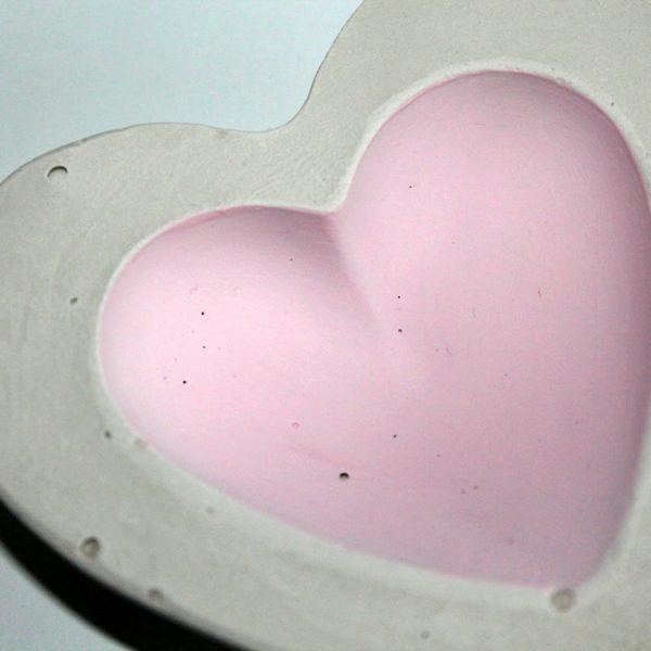 DIY Gips / Beton Schale Herz einfach selber machen - Geschenkidee