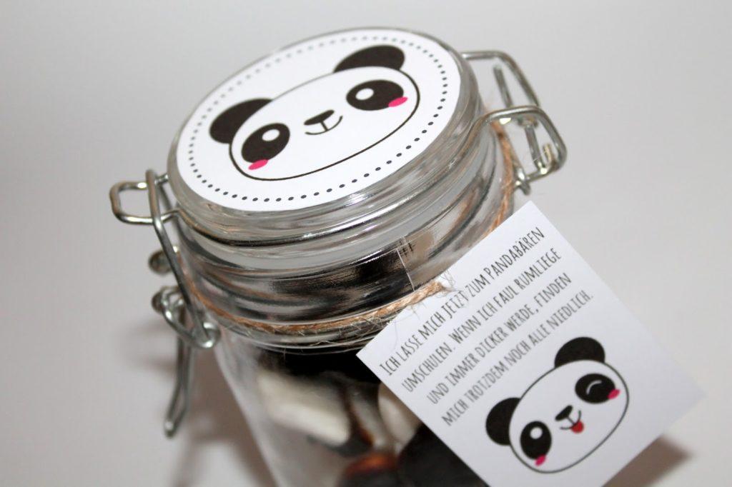 DIY, Basteln: Geschenke aus dem Glas Pandabären in Adventskalender, Mitbringsel, Geldgeschenke und Geschenkideen - DIYCarinchen
