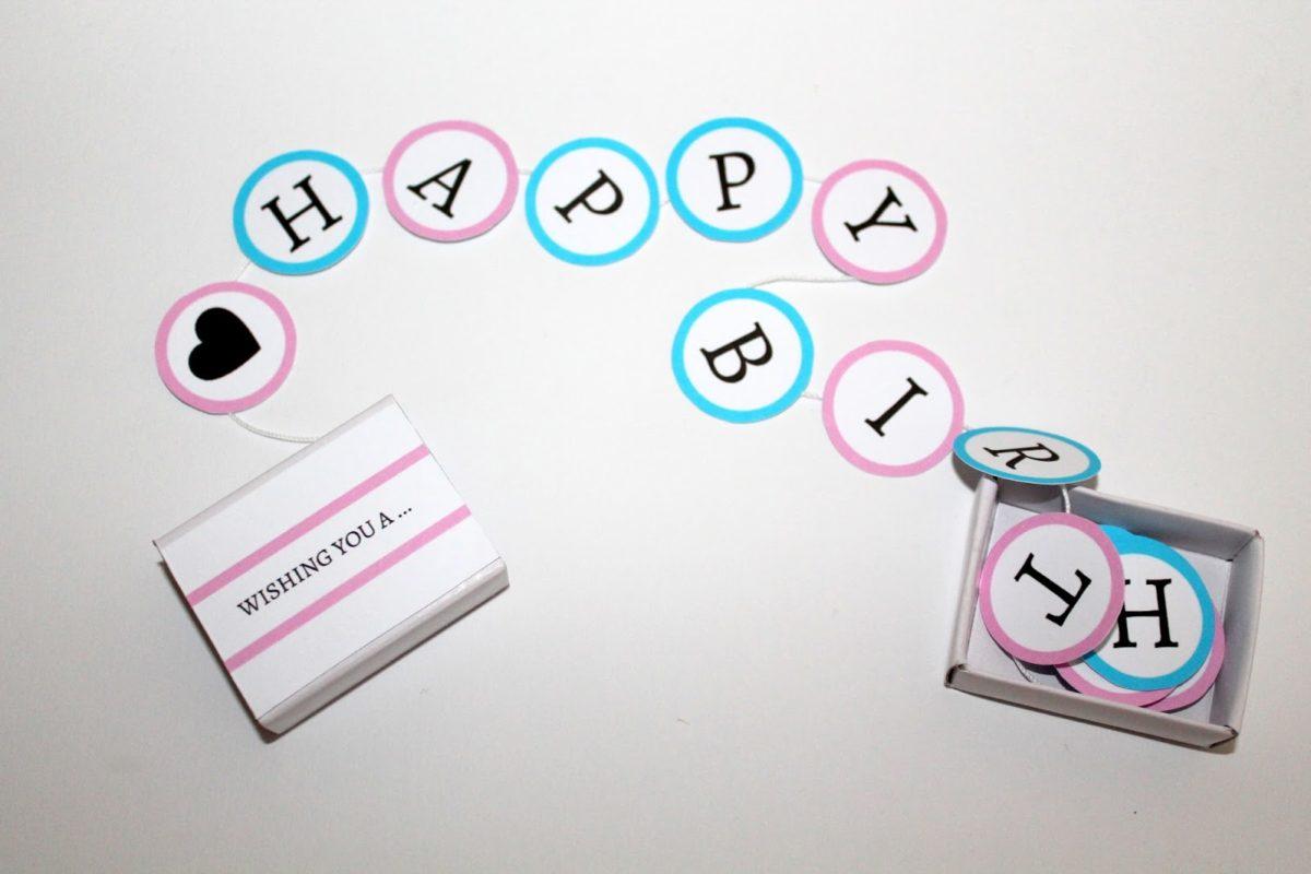 ♡ DIY süßes Geburtstagsgeschenk in einer Streichholzschachtel selber machen! HAPPY BIRTHDAY {mit gratis Printable} ♡