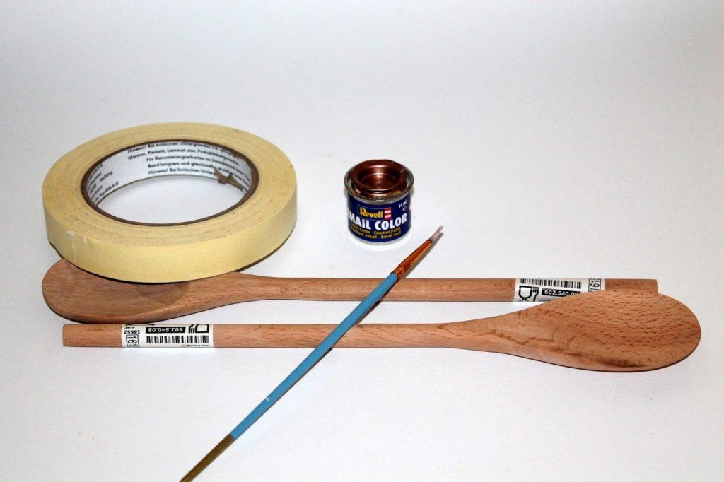 DIY, Basteln: Kochlöffel verschönern in Küche, Küchendekoration, Upcycling, Recycling und Geschenkideen - DIYCarinchen