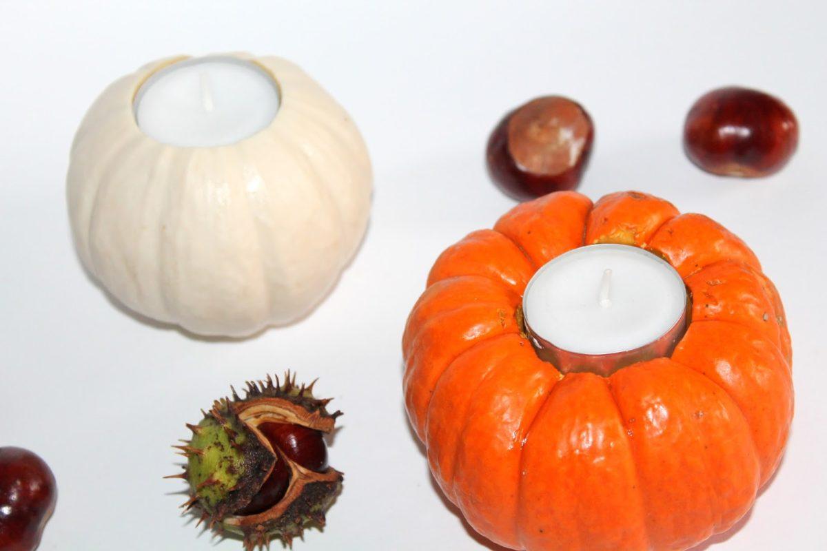 DIY Kürbis Teelichter total schnell selber machen! Must Have für den Herbst!