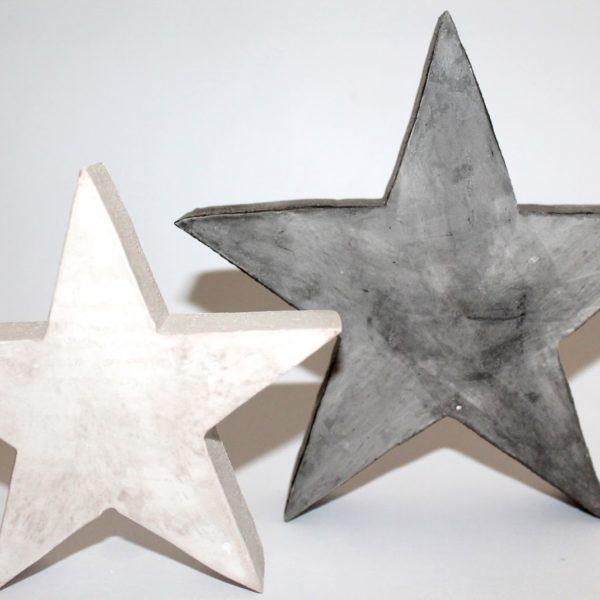 Coole Weihnachtsdekoration: DIY Gips / Beton Sterne selbst gießen