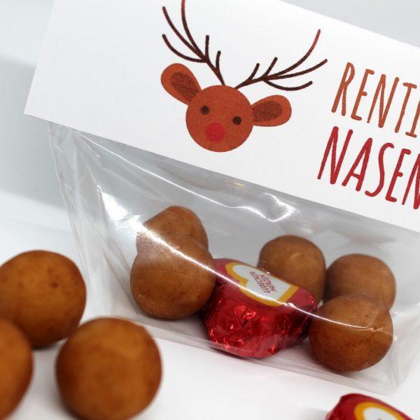 DIY Rentiernasen {mit gratis Printable} / Last Minute Geschenkidee zu Weihnachten