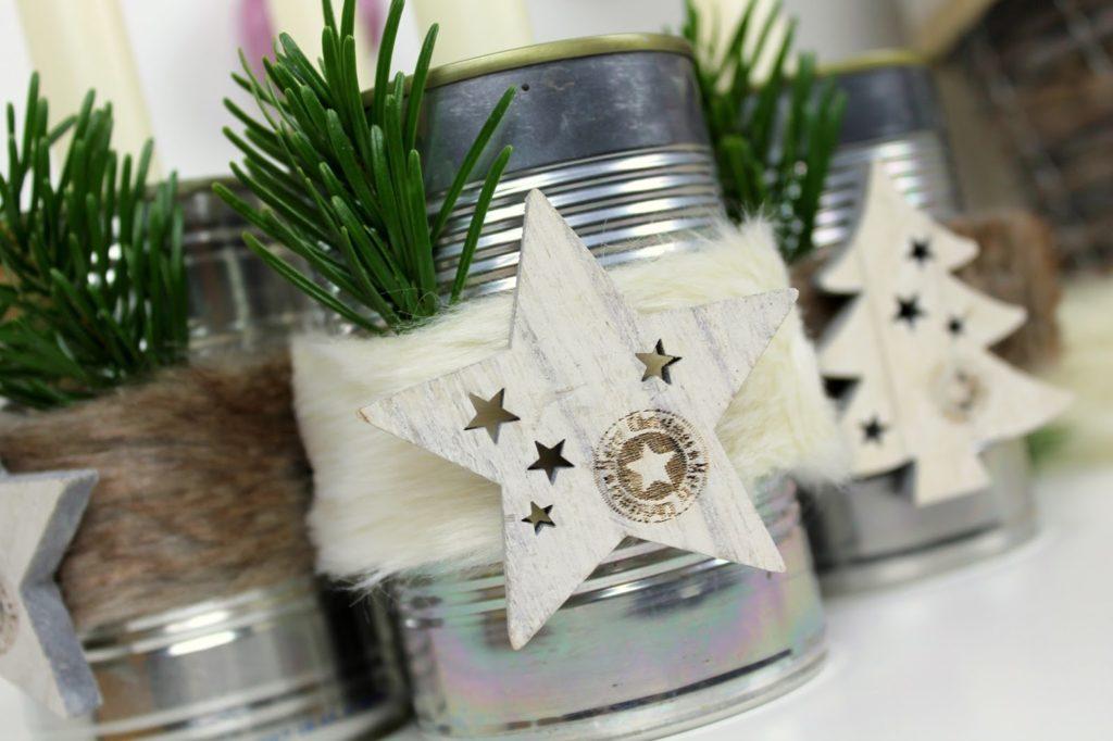 DIY, Basteln: Recycling Adventskranz aus Konservendosen, Dekoration, Weihnachtsdekoration und Geschenkideen - DIYCarinchen