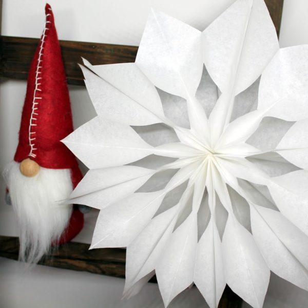 Last Minute DIY: Geschenkidee zu Weihnachten, Weihnachtssterne aus Brottüten in weniger als 5 Minuten!