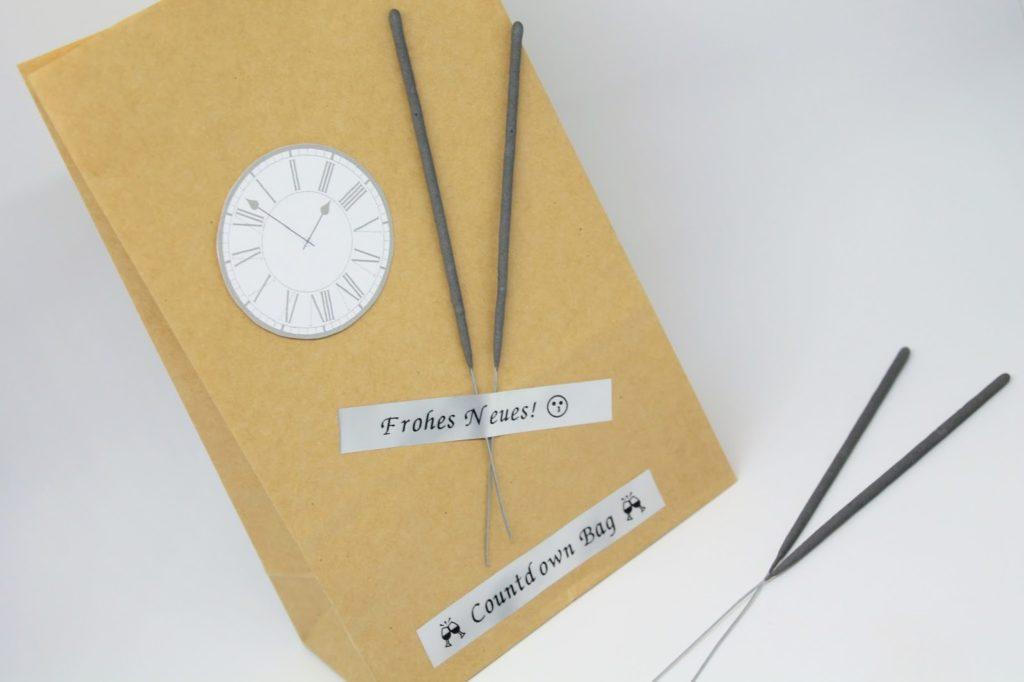 DIY, Basteln: 3 schnelle Bastelideen für Silvester, Silvesterdeko, Gastgeschenke und Geschenkideen - DIYCarinchen