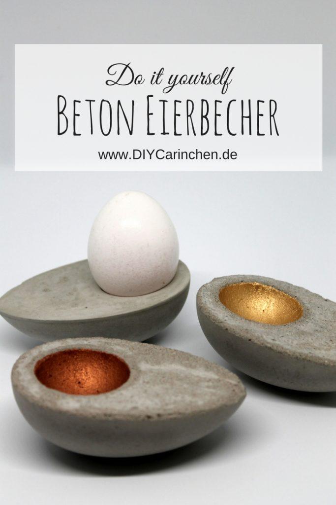 DIY Beton Eierbecher in Eierform ganz einfach selber machen! Mit dieser Anleitung klappt es auf jeden Fall!