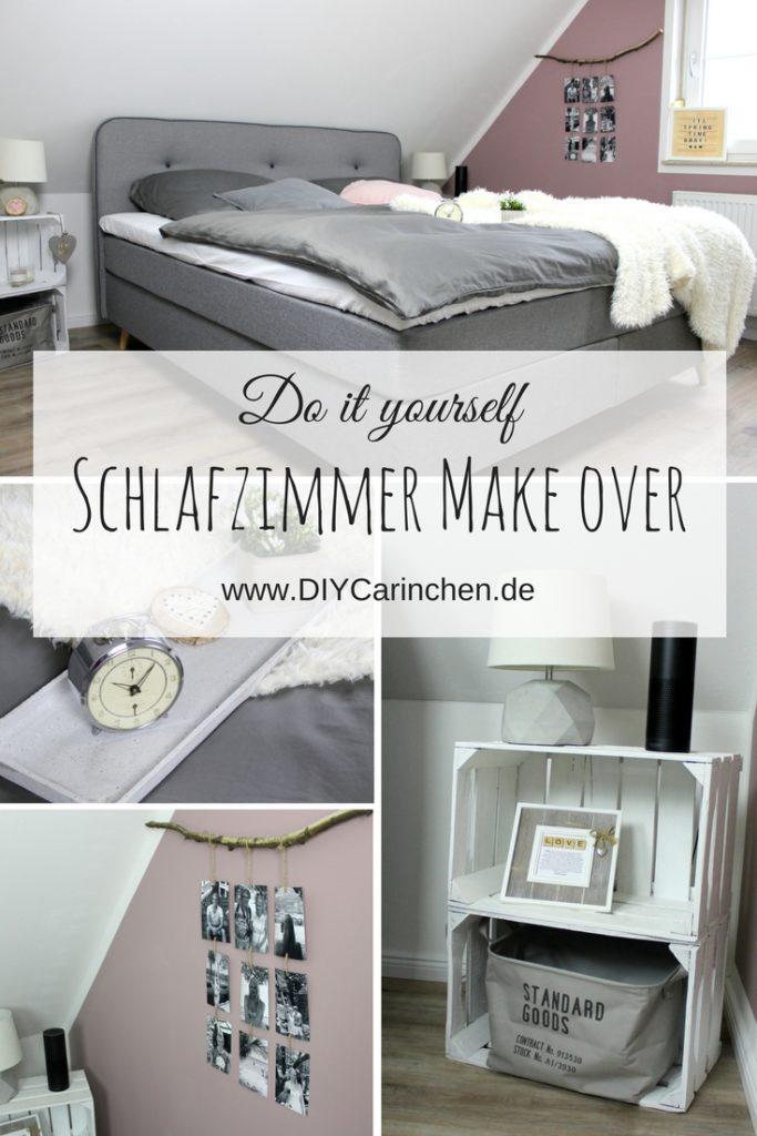 DIY Schlafzimmer Make Over - Vorher / Nachher mit tollen DIY und Einrichtungsideen