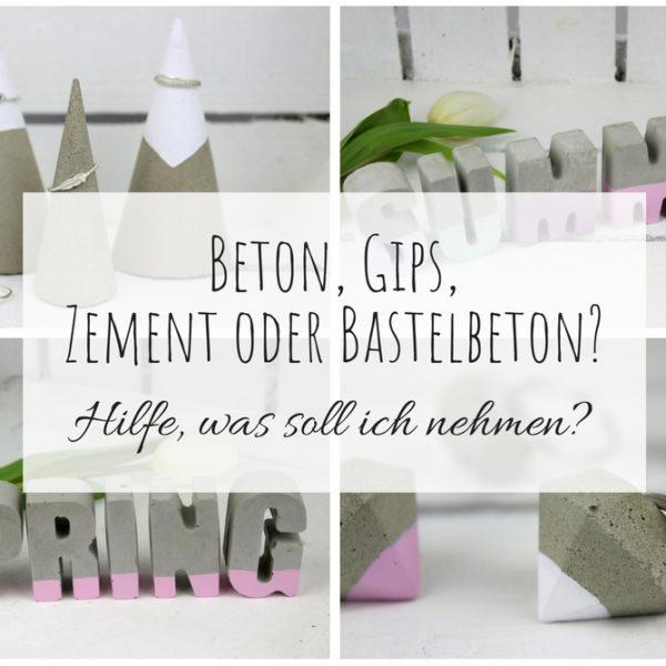 Beton, Gips, Zement oder Bastelbeton? Hilfe, was soll ich zum Basteln verwenden? (+Vor- und Nachteile)