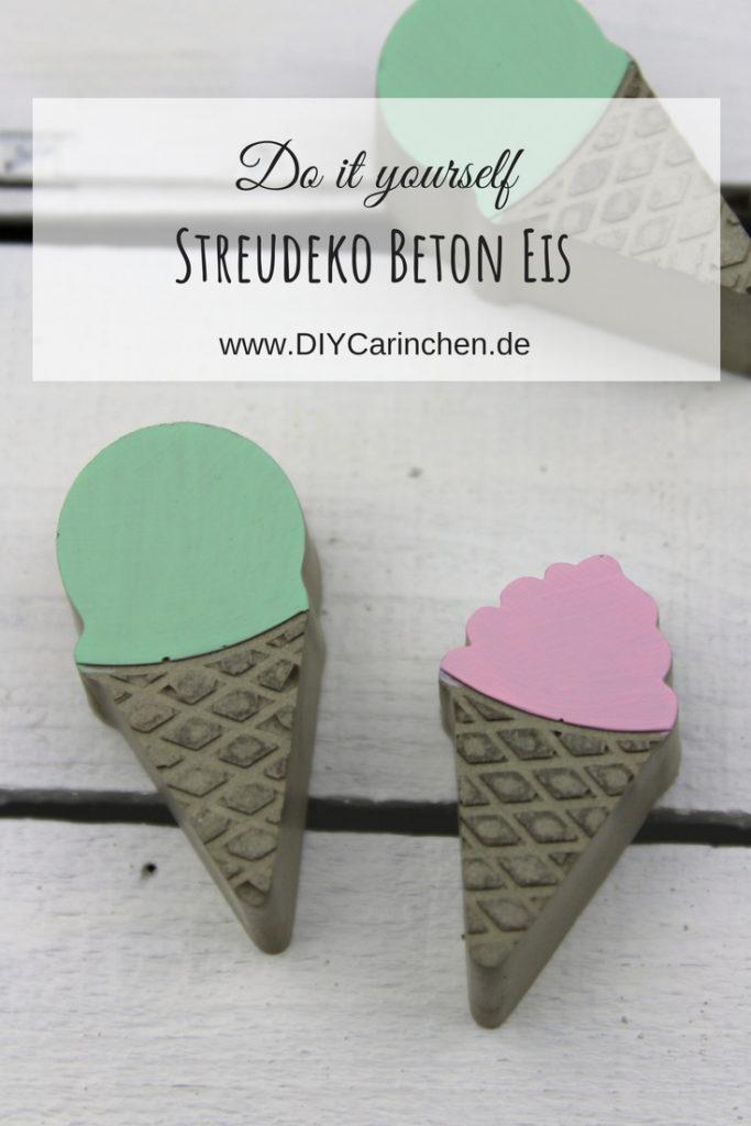 DIY Eis Streudeko aus Beton ganz einfach selber machen - perfekte Dekoidee für eure Gartenparty