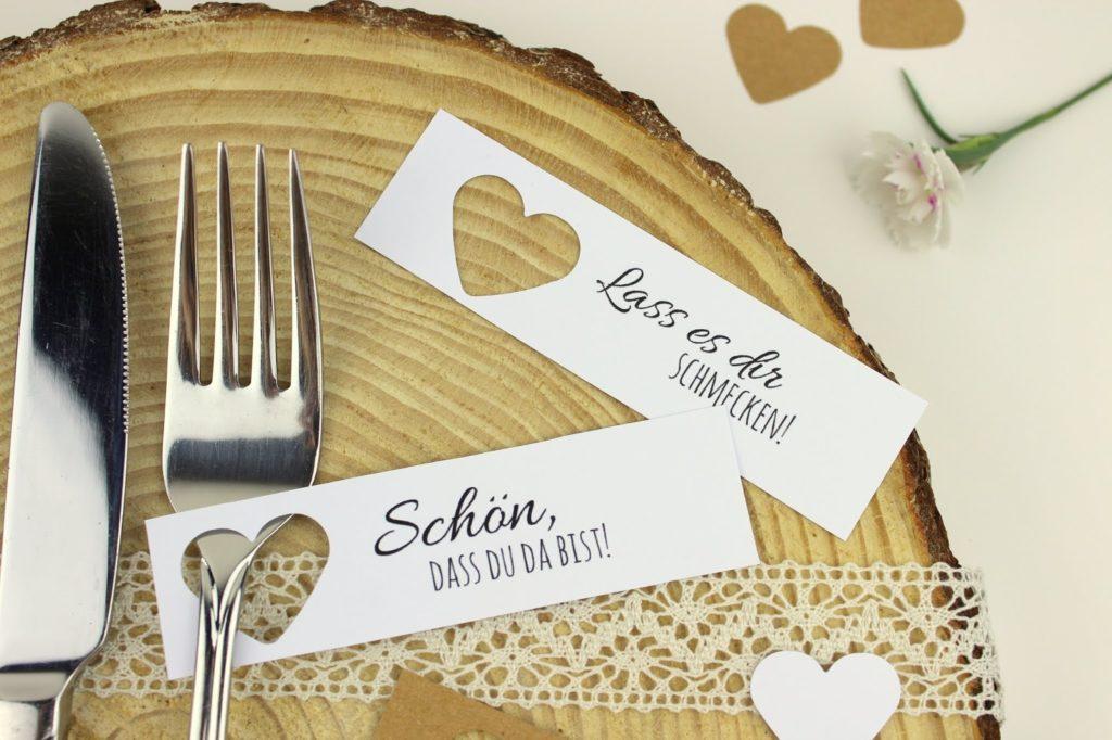 DIY Tischkarten ganz einfach selber machen + 5 kostenlose Printable - ideal für die perfekte Hochzeit