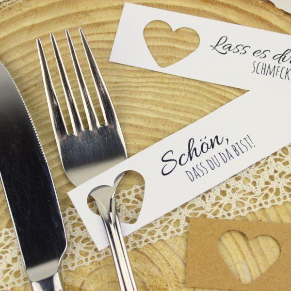 DIY Tischkarten ganz einfach selber machen + 5 kostenlose Vorlagen - ideal für die perfekte Hochzeit