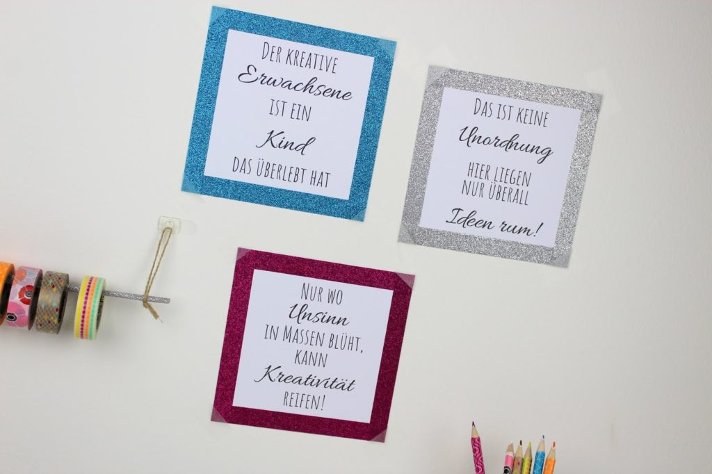 Washi Tape Statementbilder - DIY: 5 coole und schnelle DIYs mit Washi Tape - perfekt für den kreativen Arbeitsplatz oder für den Schulanfang