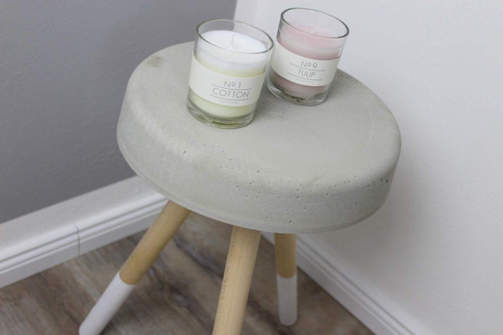 DIY Beistelltisch / Hocker aus Beton selber machen - eine wunderschöne Deko für jeden Raum