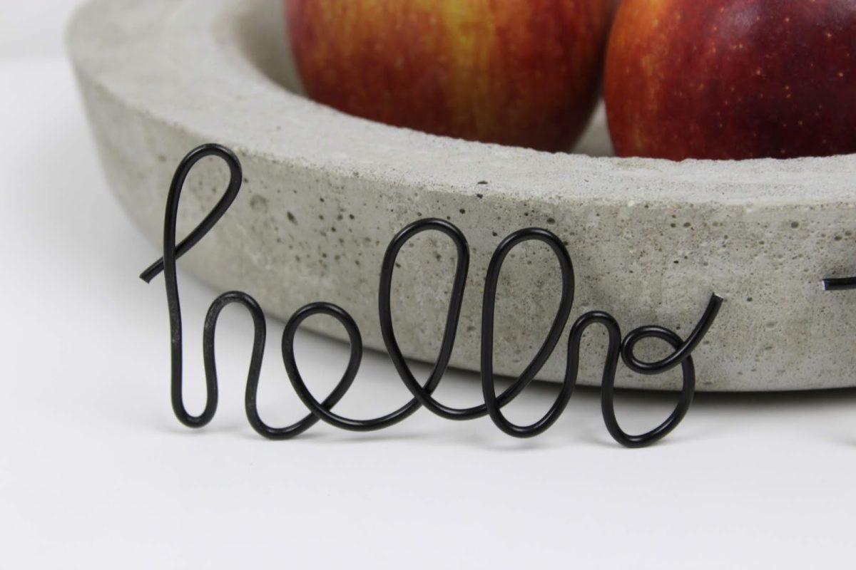 DIY: Hallo Herbst: Lettering mit einem Draht ganz einfach selber machen + Vorlage - super Herbstdeko