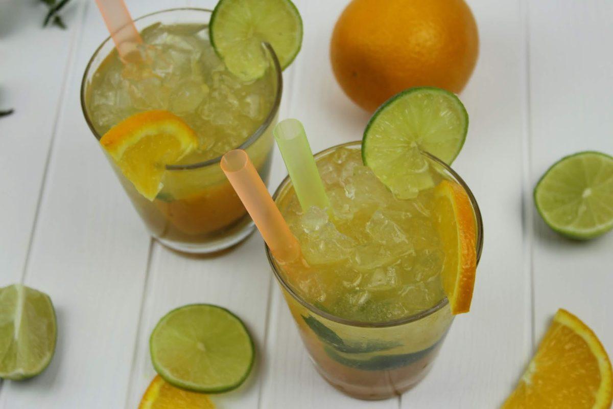 Rezept: Super leckerer Orangen Mojito Cocktail - ganz einfach selber machen mit Sinalco Orange