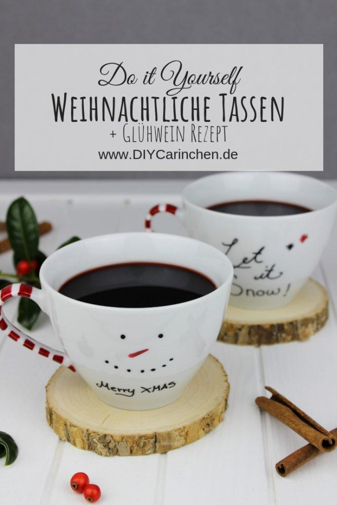 DIY + Rezept: Weihnachtlich bemalte Tassen und leckeren Glühwein ganz einfach selber machen