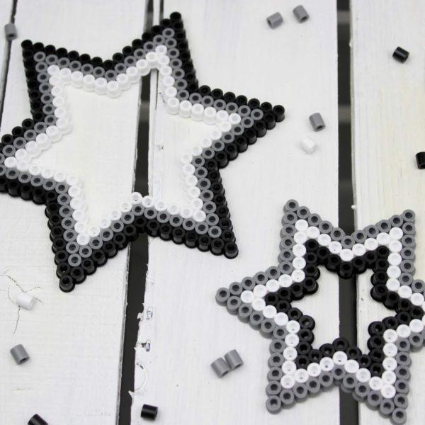 Sterne aus Bügelperlen