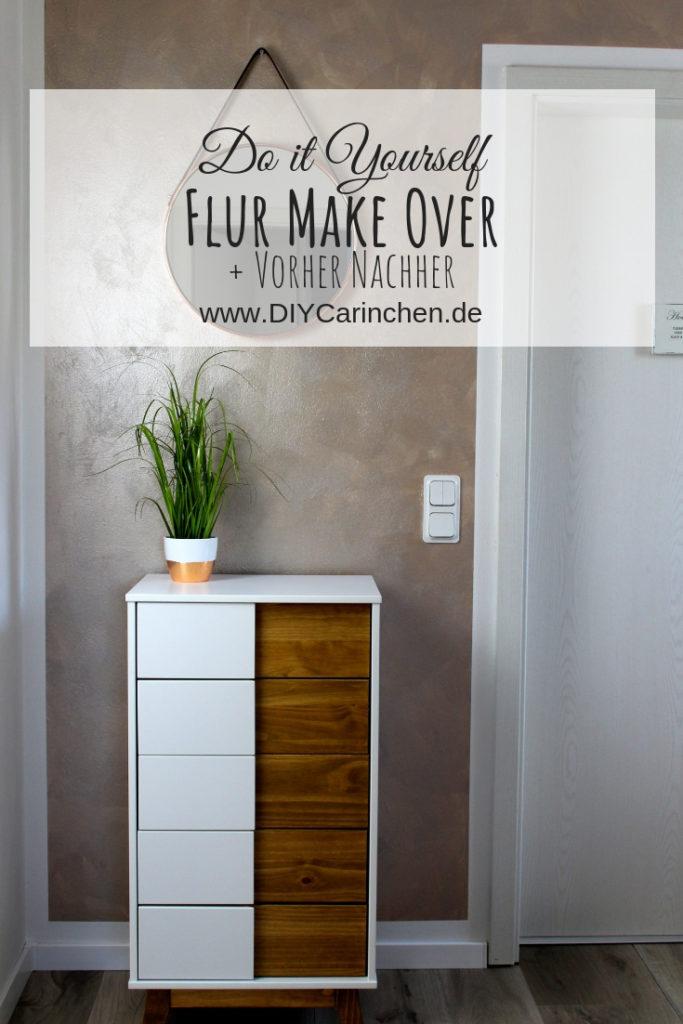 DIY: Flur Make Over inklusive Vorher Nachher - mit neuer Wandfarbe in Schimmer-Optik Shiny Rose + Streich-Tipps