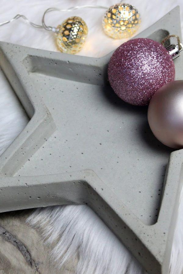 Betonschale Stern Weihnachten