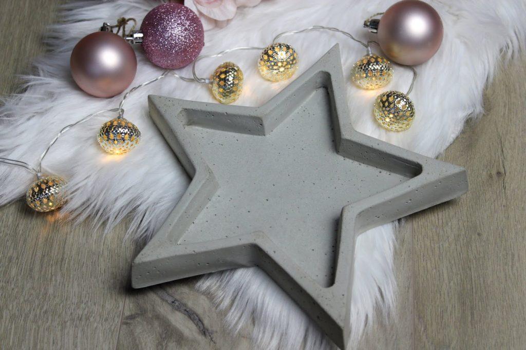 DIY Betonschale Stern in wenigen Schritten selber machen - eine tolle Weihnachtsdeko oder Geschenkidee zu Weihnachten