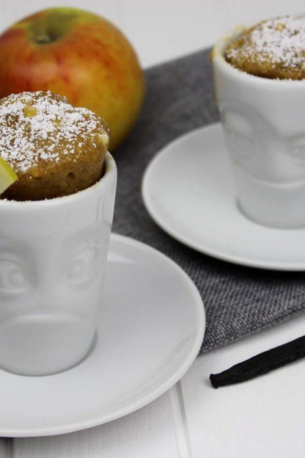 Tassenkuchen Apfen und Nuss
