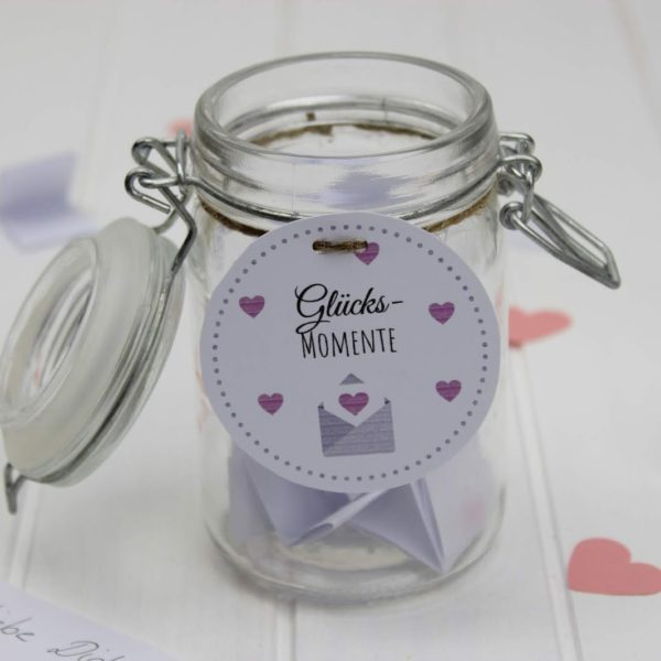 Geschenk, Liebesbrief im Glas