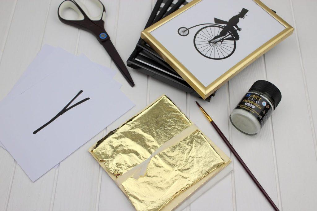 DIY: Süße Valentinstag Deko mit Blattgold ganz einfach selber machen - auch super als Geschenkidee + kostenlose Vorlage