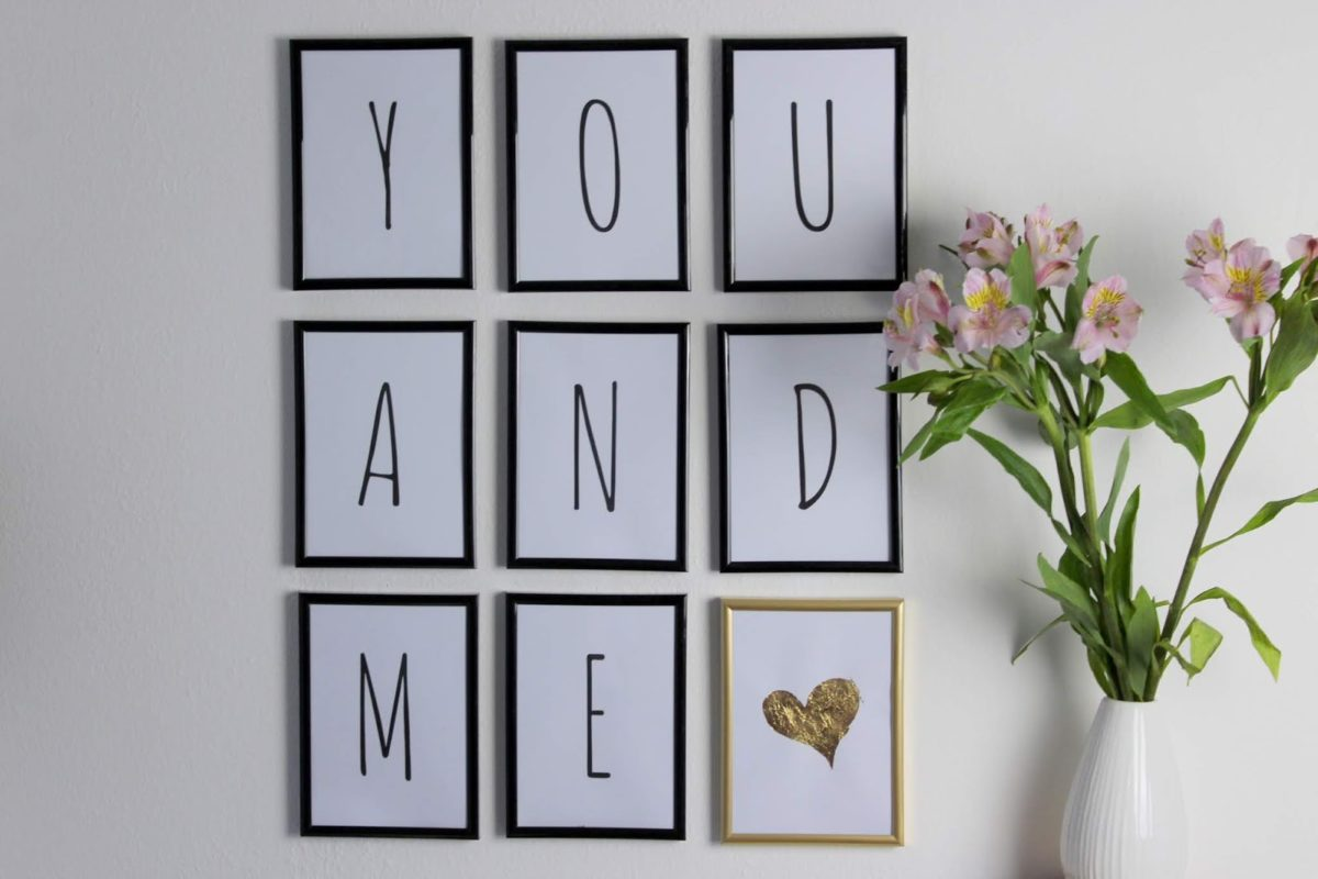 Wanddeko Bilder Liebe