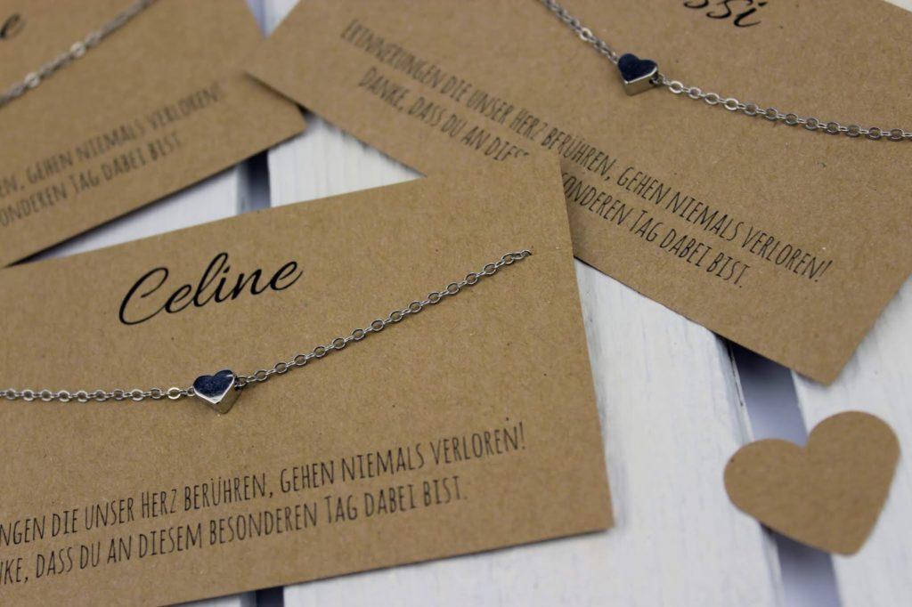 DIY personalisiertes Gastgeschenk zur Hochzeit speziell für Frauen - mit Liebe selber gemacht