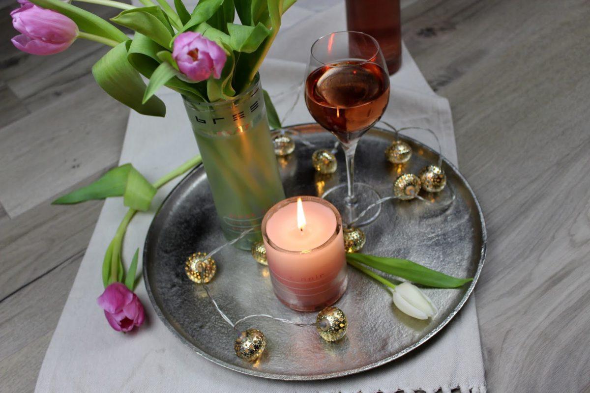 Glasflaschen schneiden, Deko, Kerze