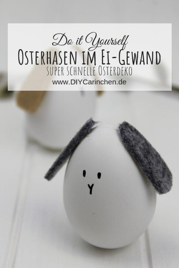 DIY: Osterhasen im Ei-Gewand selber machen - super schnelle Osterdeko