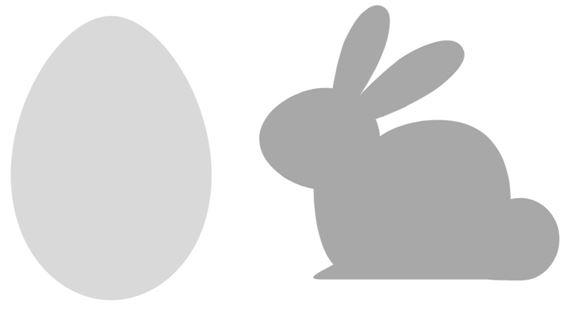 Osterdeko: Osterhase und Ei in String Art auf einer Astscheiben ganz einfach selbermachen + 2 Vorlagen