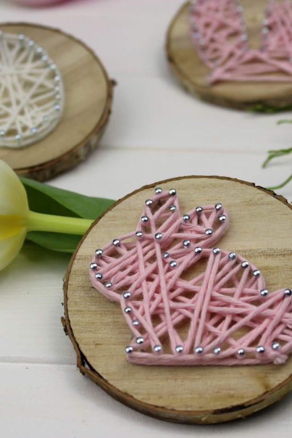 String Art Hase und Ei