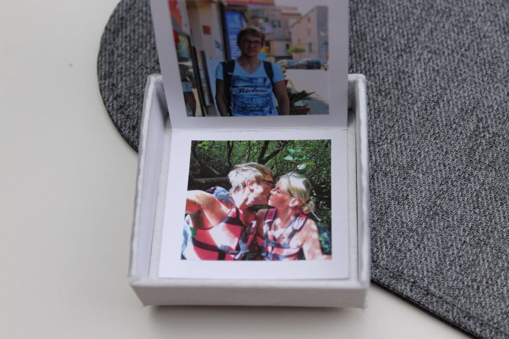 Taschenfotoalbum in einer Box - DIY: 5 wundervolle Fotogeschenke ganz schnell und einfach selber gemacht mit dem HP Tango X
