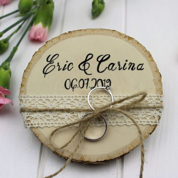 Ringkissen, Holz, Ringe, Hochzeit, Eheringe