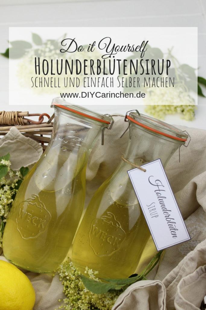 Rezept - Holunderblütensirup selber machen - so schnell und einfach geht es
